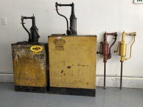 Vintage oil pumps